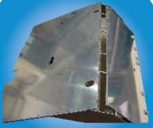 Aluminum skin honeycomb sandwich plate